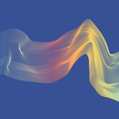 Abstract color wave design element. Colorful vector background.