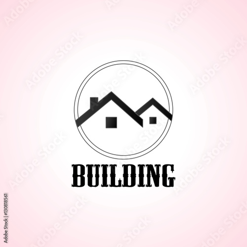 Black House Logo Set Vector Design Stock Image And Royalty Free