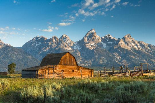 Barn at Mormon row Grand Teton National Park