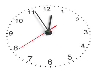 Clock face. Perspective view