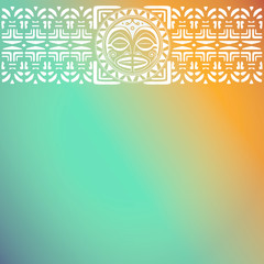 Polynesian art background for menu
