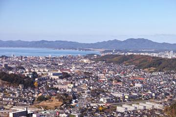 松江市 南部市街地 鳥瞰