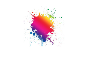 abstract colorful illustration on white background