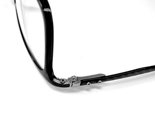 The eye glasses leg broken attached by glue