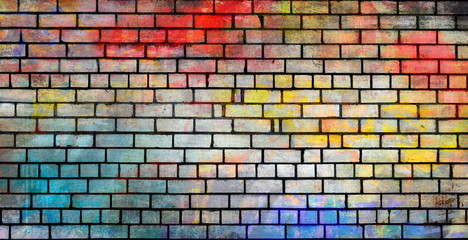 Colorful street wall background