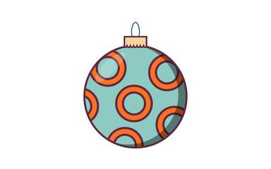 christmas ball with retro color