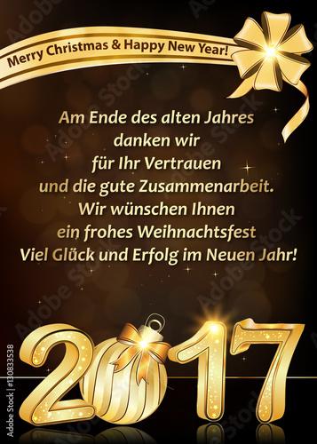 Danke sagen zu Weihnachten: Wir wünschen Ihnen Frohe Weihnachten und ...