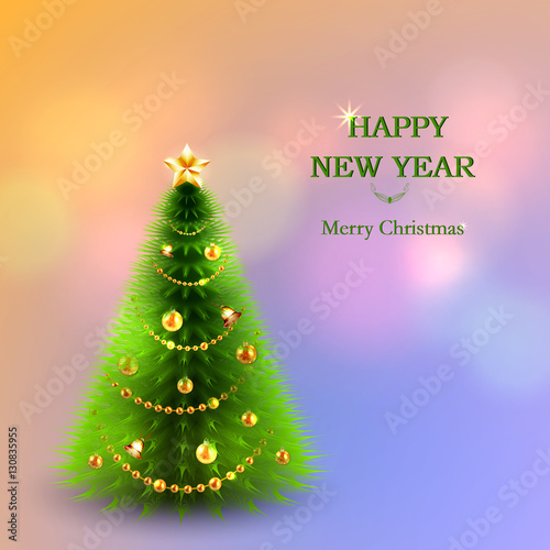 Merry christmas greeting card template design for your holiday merry christmas greeting card template design for your holiday invitation with christmas tree jingle maxwellsz