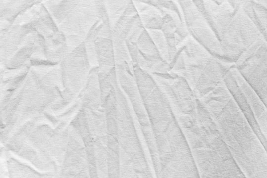 wrinkled white cloth as background