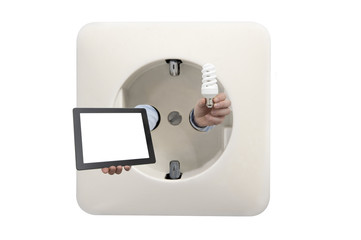 control youre lights at home by tablet
