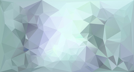 Low poly abstract vector background in green and blue
