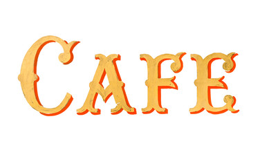 Vintage Painted Cafe Sign