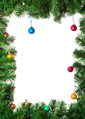 Artificial christmas tree with toys