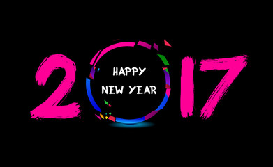 Happy New Year 2017 from the cheering people.