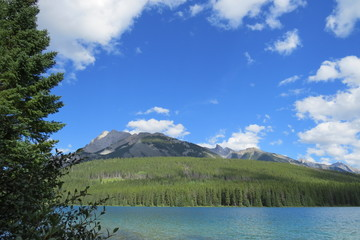 Photography: Beautiful landscape with a lake and clouds. Banff, Alberta, Canada.