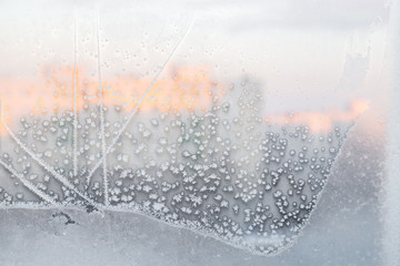 ice pattern on window, ice background