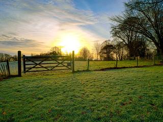 Northern Ireland countryside morning sunrise