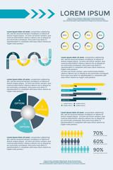 Infographic Elements Collection  for brochure presentation, booklet, website,  diagram, banner, number options, workflow layout or web design etc. Big set of Infographics. Timeline vector.