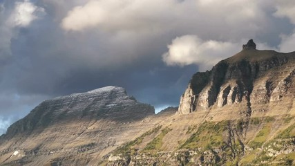 Wall Mural - Logan's Pass has some intense weather between peaks in Glacier National Park