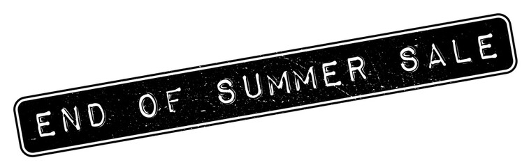 End Of Summer Sale rubber stamp. Grunge design with dust scratches. Effects can be easily removed for a clean, crisp look. Color is easily changed.