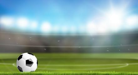 soccer football ball stadium 3d render