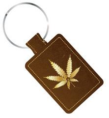 Marijuana Isolated  Key Fob