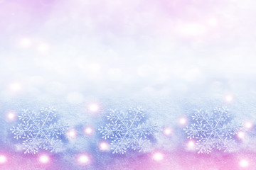 abstract background of snowflakes