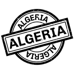 Algeria rubber stamp. Grunge design with dust scratches. Effects can be easily removed for a clean, crisp look. Color is easily changed.