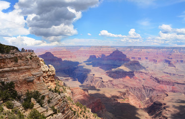 Beautiful view of  Grand Canyon National Park landscape, Arizona, USA.