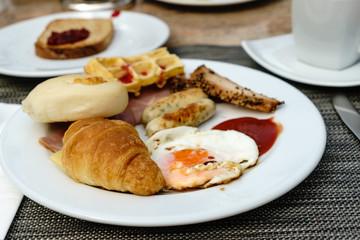 Morning breakfast on table