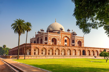 Autocollant pour porte Delhi Humayun's Tomb in New Delhi, India