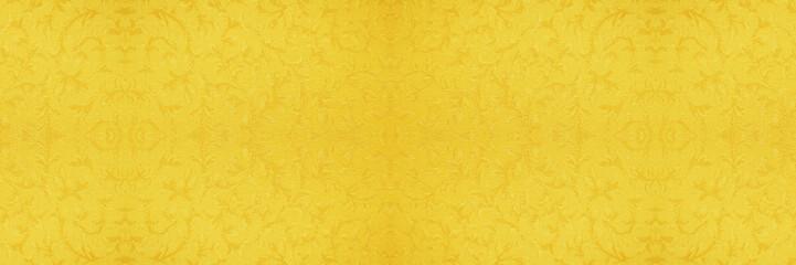 金色のアラベスク模様のバナー