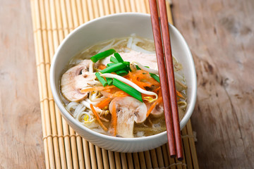 Oriental Chicken and Vegetable Soup.