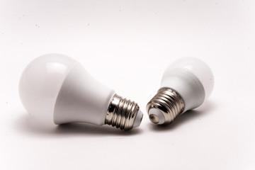 White light bulbs isolated on a white background