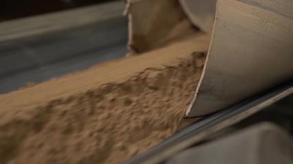 Wall Mural - Concrete mixer machine at brick factory
