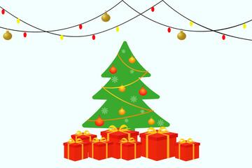 Icon Christmas tree. Vector.