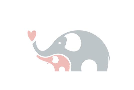 Cute elephants. Family.