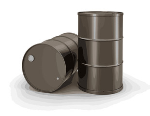 Oil drums. Image with clipping path