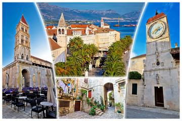 UNESCO town of Trogir tourist postcard