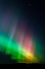 Abstract image of illuminated northern lights at night