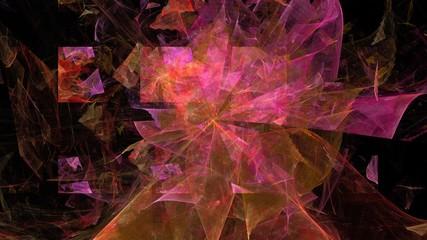 Futuristischer Hintergrund - Pink auf Schwarz