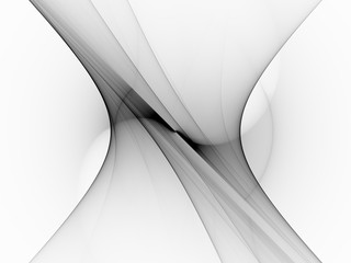 Black and white technology curves background