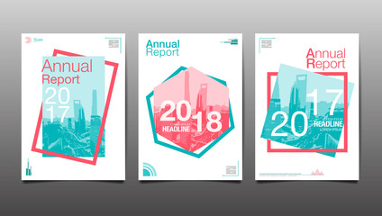annual report 2017,2018,2019, template layout design