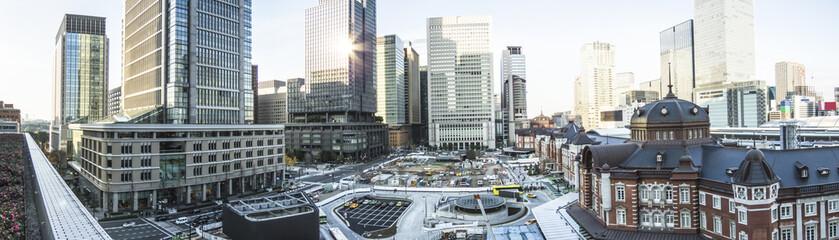 東京風景(東京駅丸の内駅舎ロータリー)