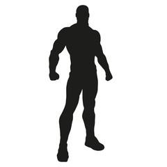 silhouette superhero