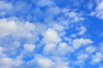 Blue sky, soft sky fluffy cloud background