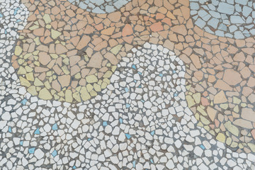 Stone block pavement.floor stone rocks pattern