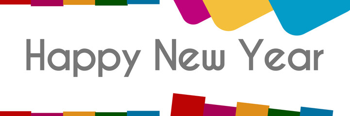 Happy New Year Colorful Abstract Background