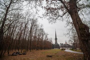 Peri wooden church in Sapanta, Romania.
