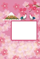 二羽のニワトリのフェミニンなピンクのメッセージカード